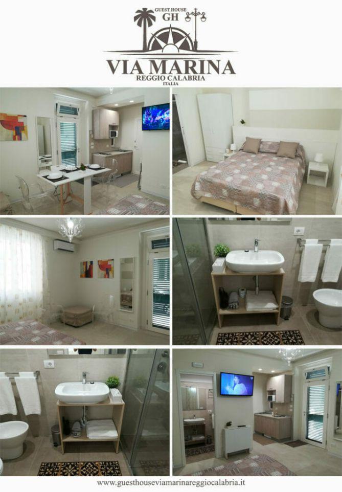 Rooms of the Guest House Via Marina Reggio Calabria Center